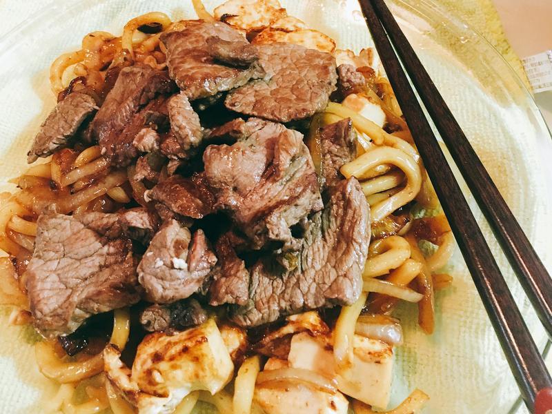 簡易版)日式牛肉炒烏龍