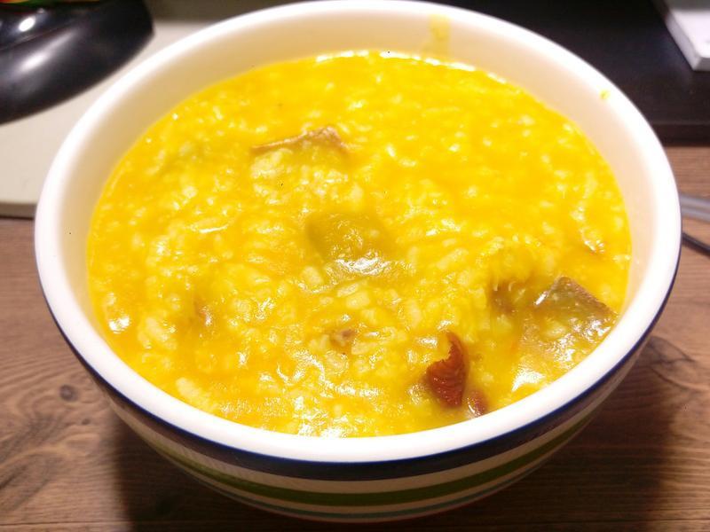 南瓜燻雞粥