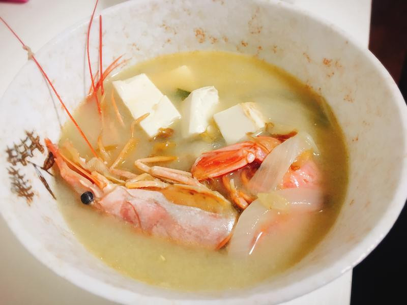 天使紅蝦味增湯