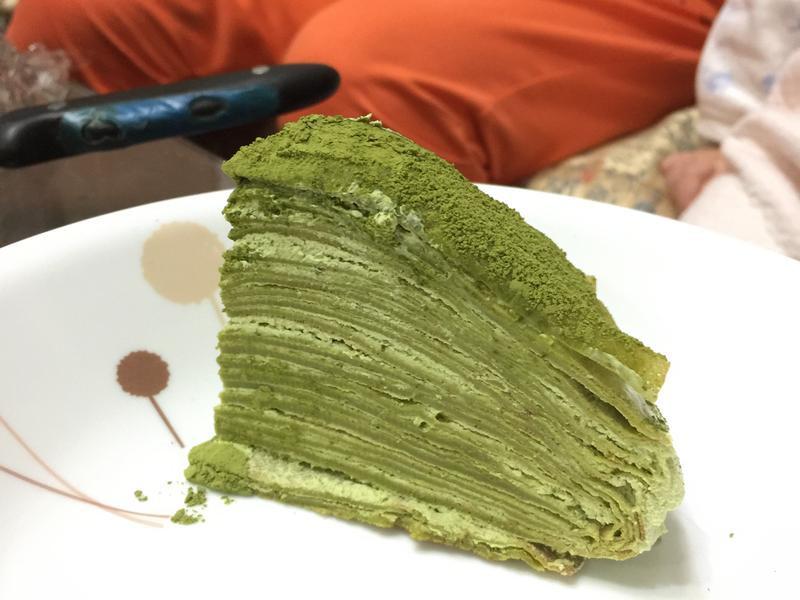 好像很厲害的抹茶千層蛋糕❤