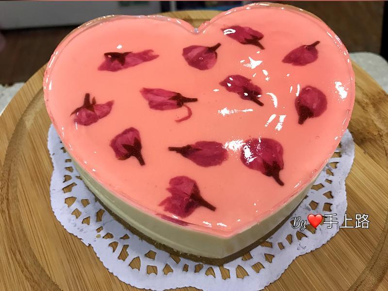 浪漫風櫻花凍乳酪蛋糕(5吋、免烤箱)