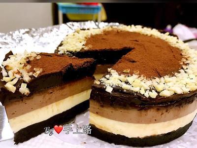 巧克力雙重奏乳酪蛋糕(5吋、免烤箱)