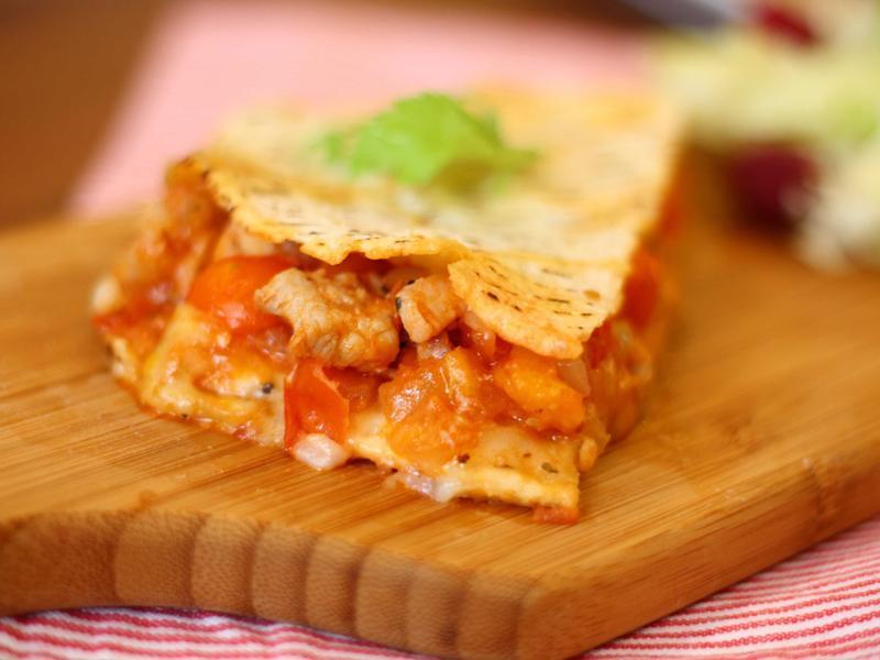 早午餐必學~蕃茄雞肉烤餅
