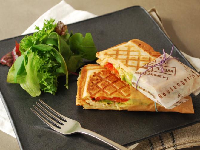雞肉酪梨三明治-【麗克特-格子三明治機】