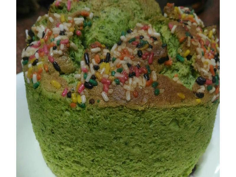 🌱🎂艾草戚風蛋糕🌱🎂