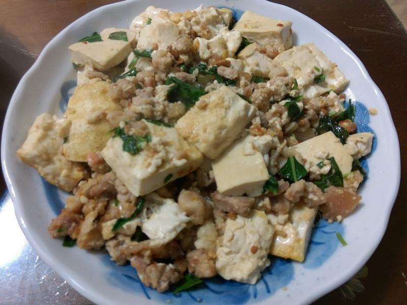 ♡ 塔香豆腐炒肉 ♡