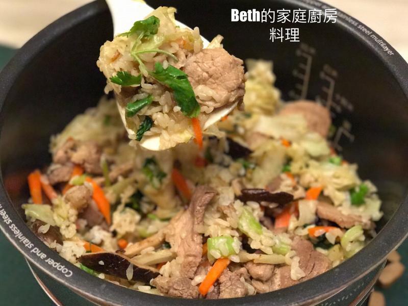 高麗菜飯 - 電子鍋版