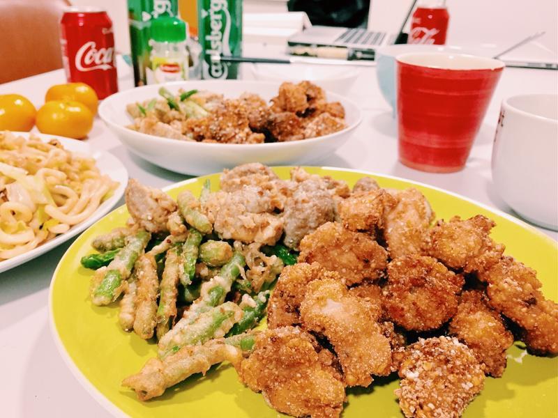 宵夜首選👉🏼鹹酥雞🐔x 炸蔬菜🍄