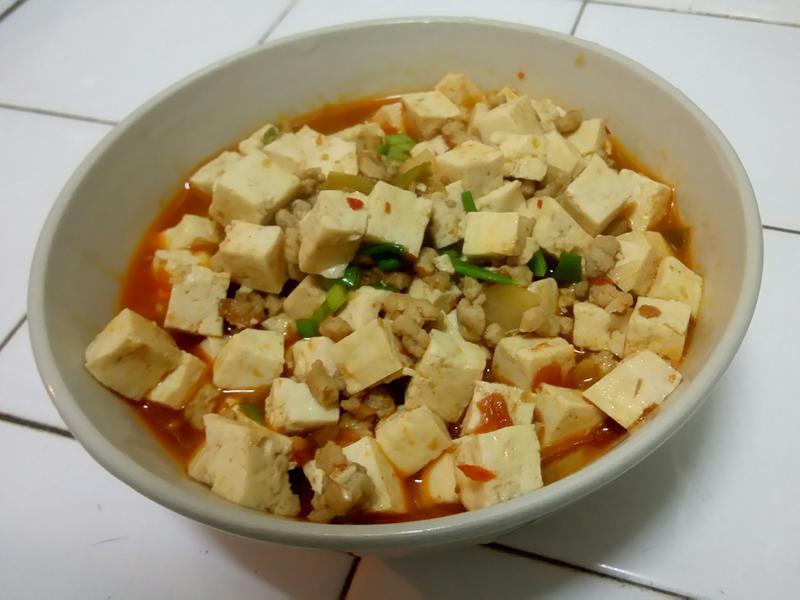 快速麻婆豆腐 (無花椒版)