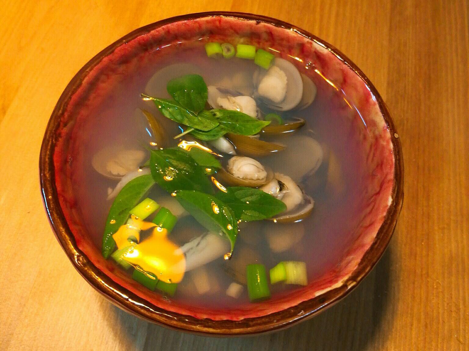 黃金蒜頭蜆湯