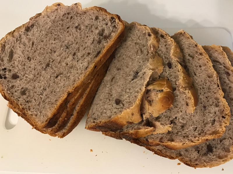 [藍]無糖超軟紫薯吐司(麵包機)