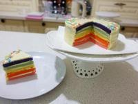 彩虹海綿蛋糕6吋