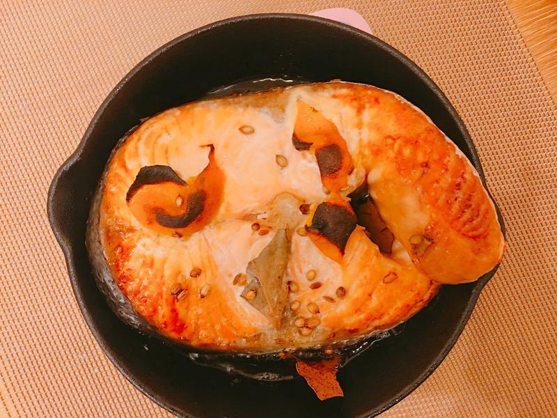 金桔烤鮭魚