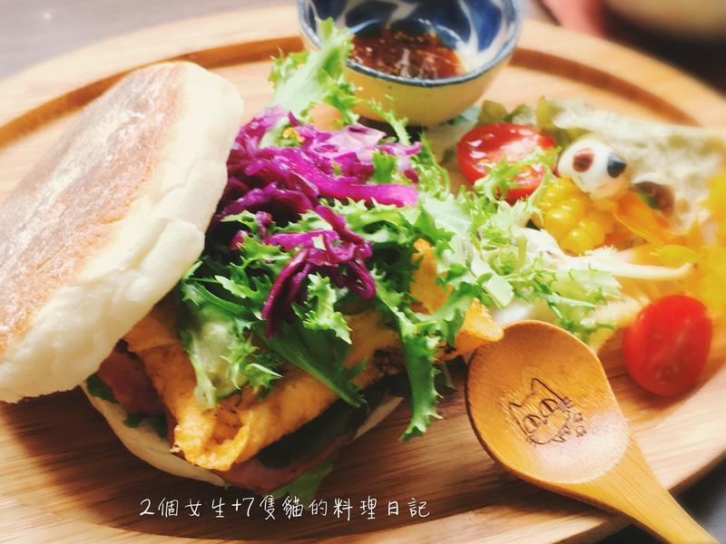盎格魯薩克遜英式漢堡【平底鍋作麵包】無奶