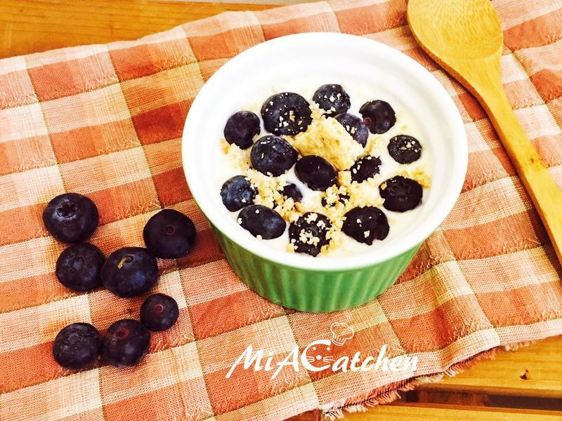 * 免烤箱 * 藍莓生乳酪蛋糕杯