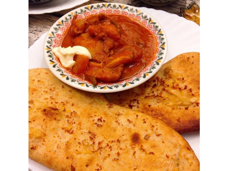 印度咖哩大蒜烙烤餅 Naan Bread
