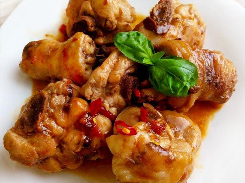 豆瓣醬燒雞