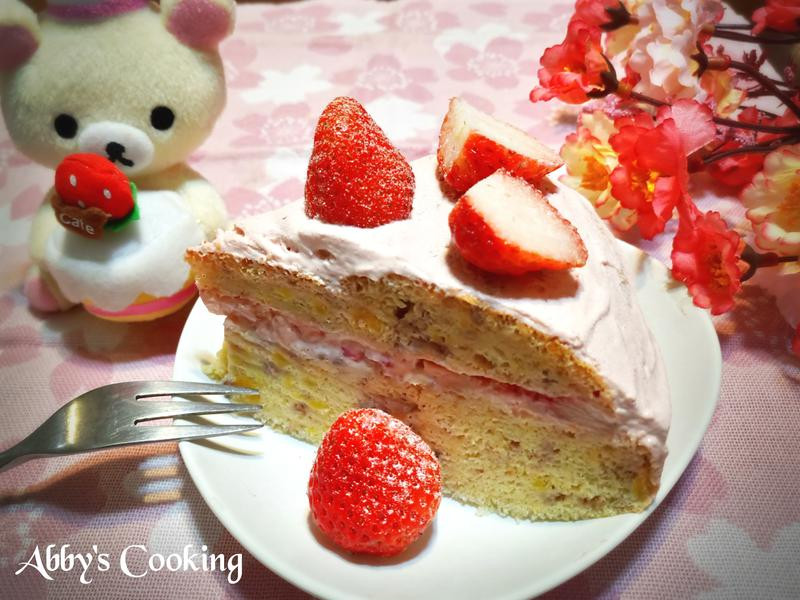 草莓鮮奶油蛋糕(電子鍋)