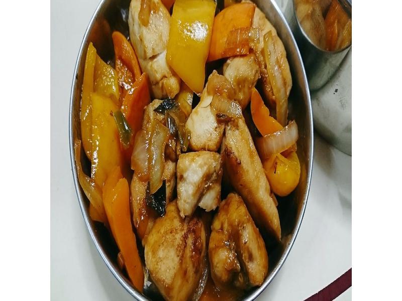 糖醋彩椒土魠魚