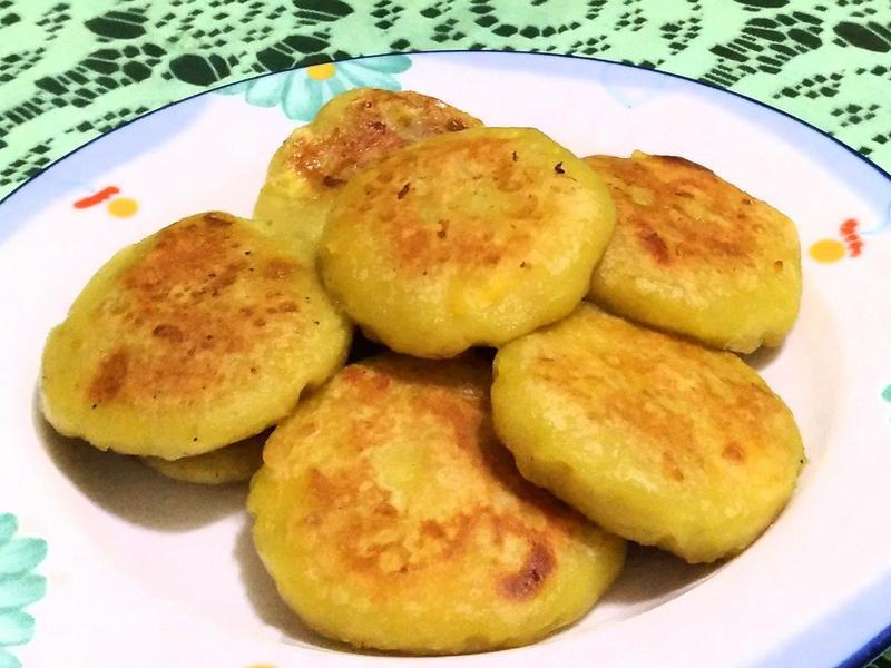 地瓜Q餅(包各種餡料,鹹甜都好吃)
