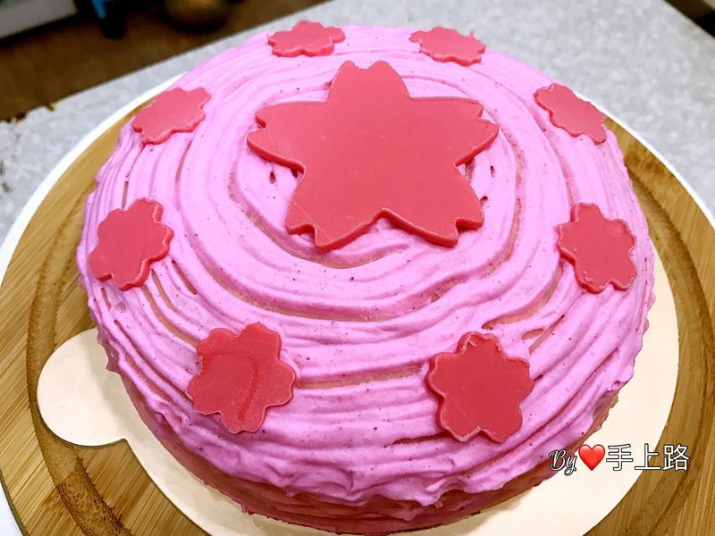 🌸櫻花千層蛋糕🌸
