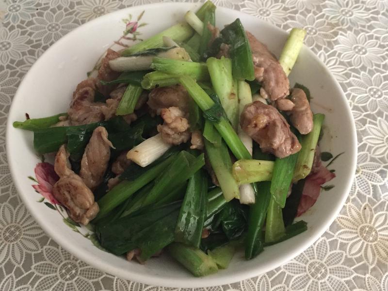 青蔥炒豬肉
