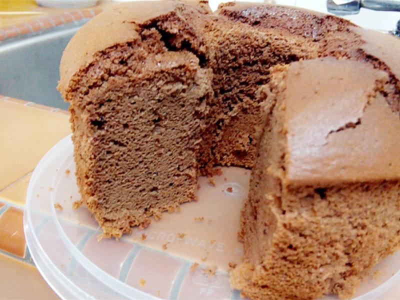 蓝莓酱可可威风蛋糕