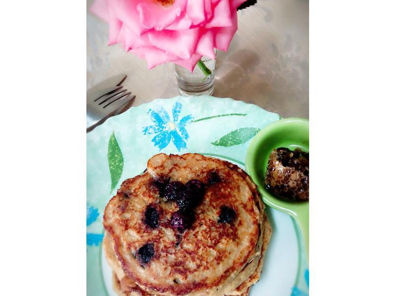 藍莓燕麥鬆餅(無麵粉奶油)