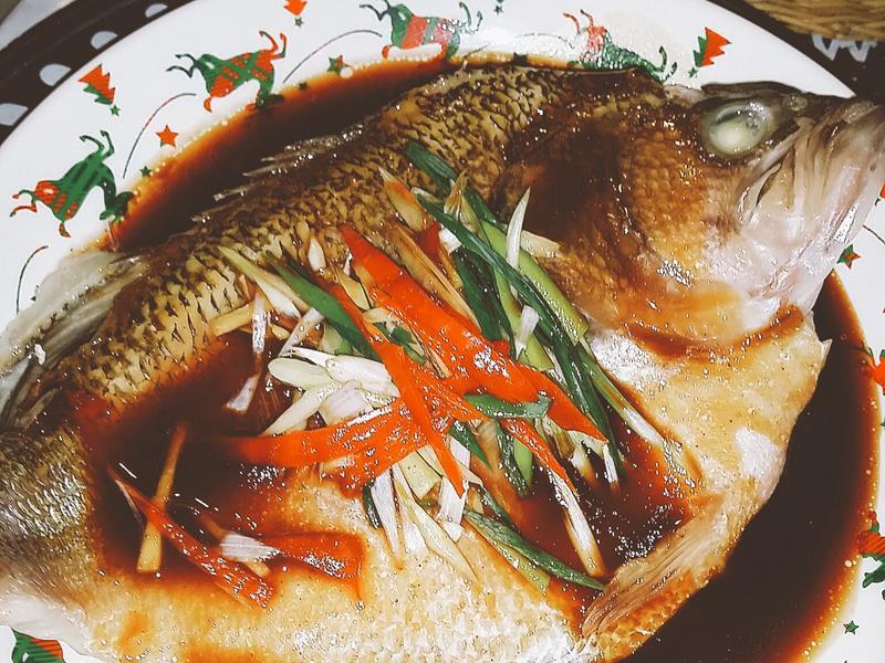 🌿🐟清蒸蔥香鱸魚