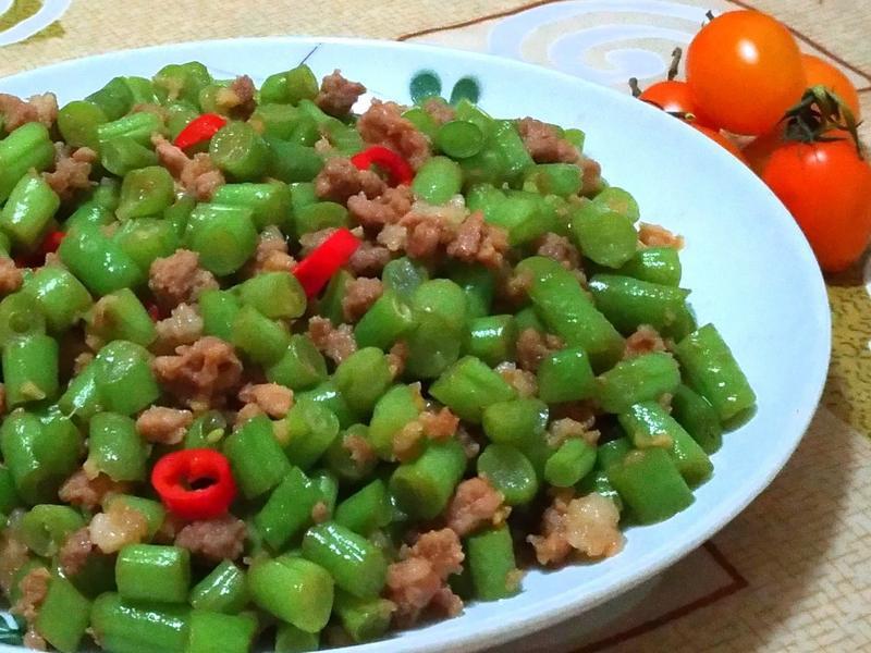 鹹甜四季豆(媽媽的便當菜)