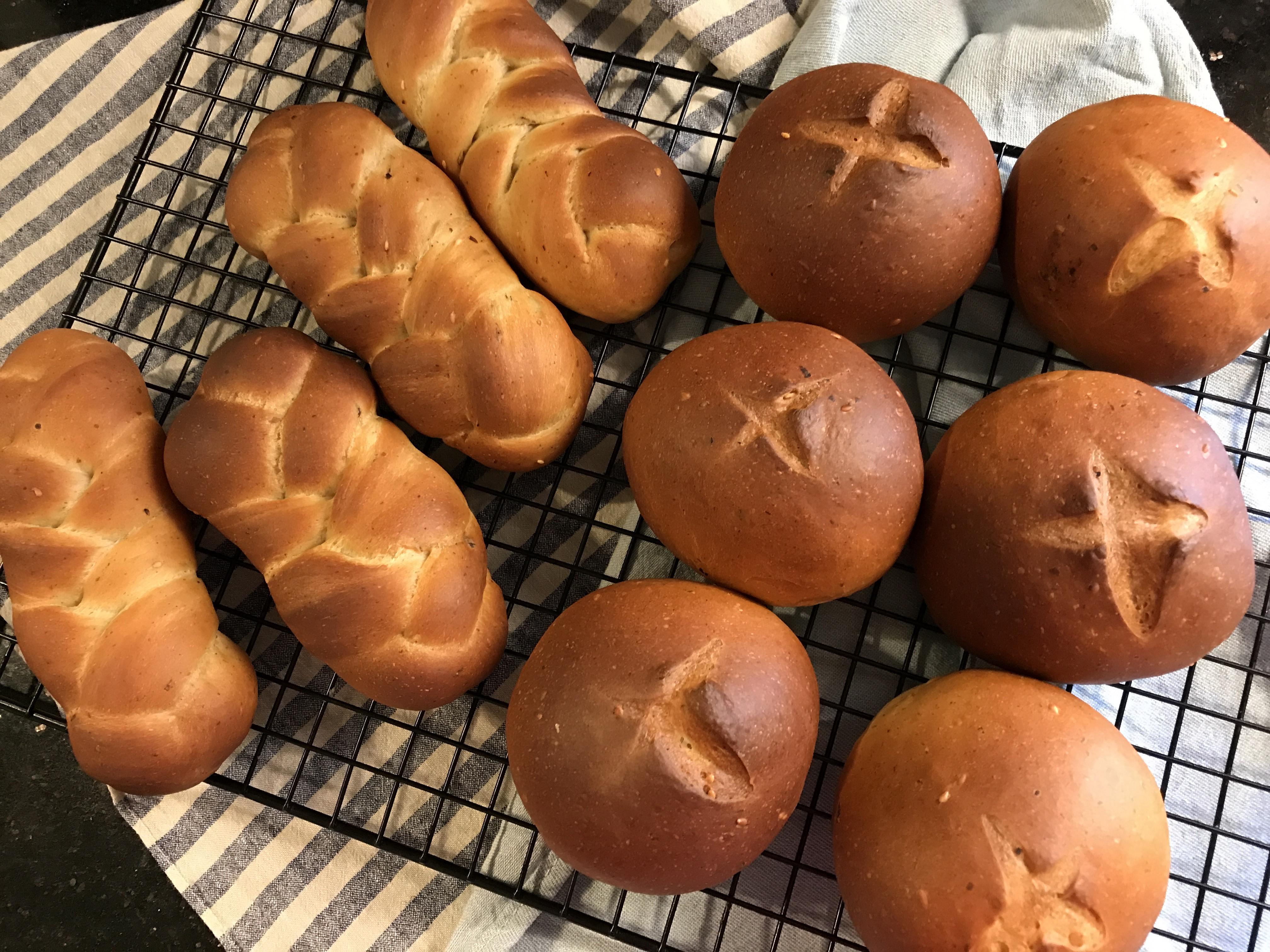 塩昆布鹹麵包