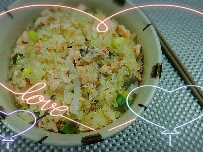 低蛋白料理~鮭魚炊真粒米飯(p-7.5)