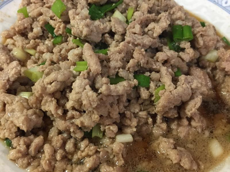 簡易蔥燒肉燥