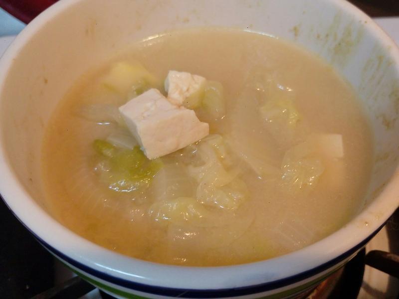 簡單湯品~味增豆腐湯
