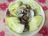 高麗菜蒸文蛤
