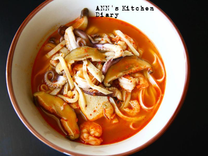 韓式海鮮炒碼麵