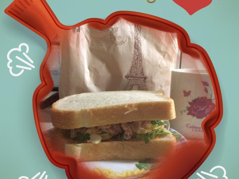 法式芽菜鮪魚三明治
