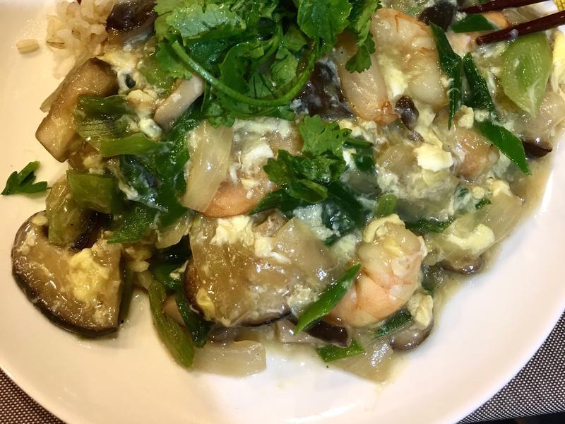 香菇滑蛋蝦仁燴飯