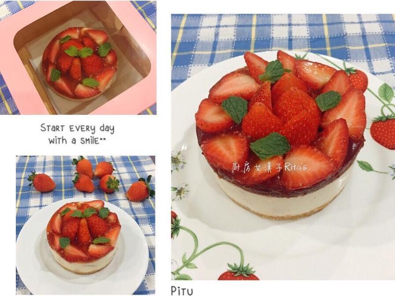 草莓乳酪蛋糕(免烤)