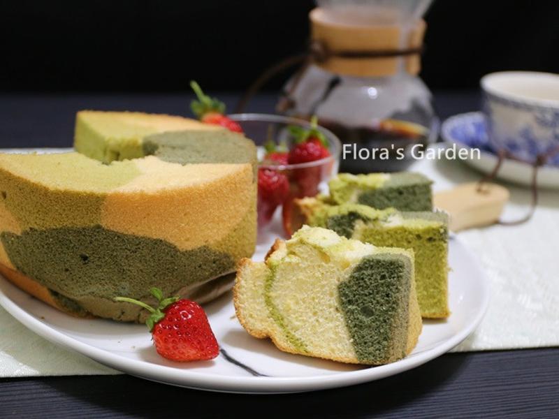 迷彩戚風蛋糕
