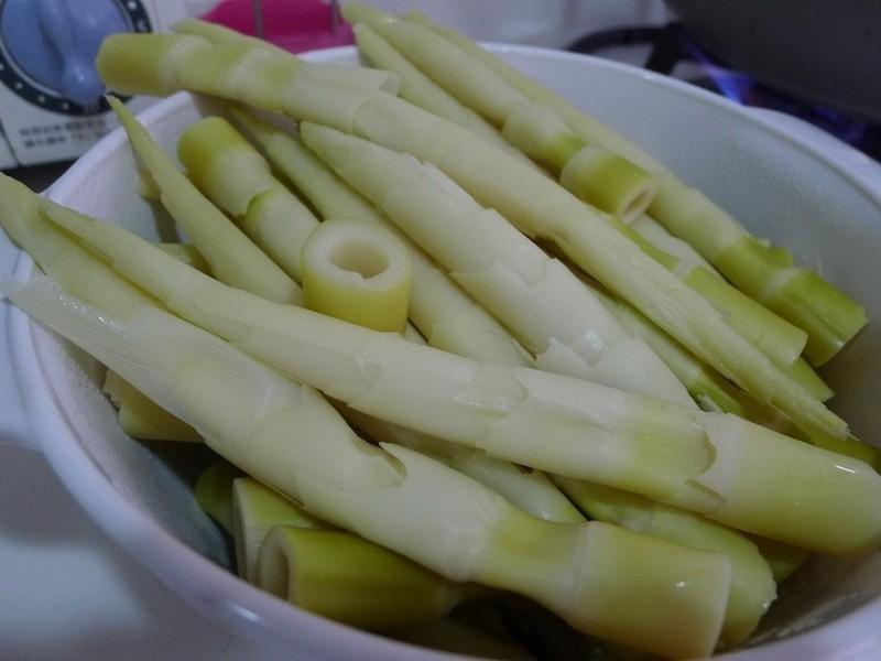 新鮮桂竹筍前製作業