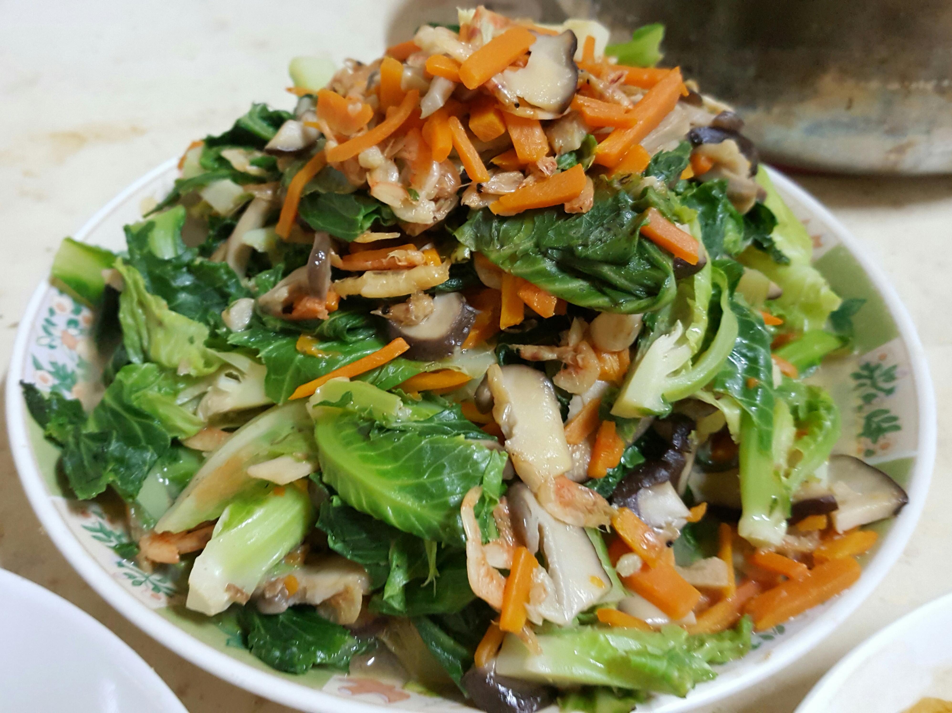 櫻花蝦炒高麗菜苗