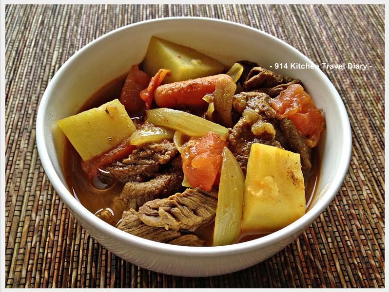 蕪菁咖哩牛肉
