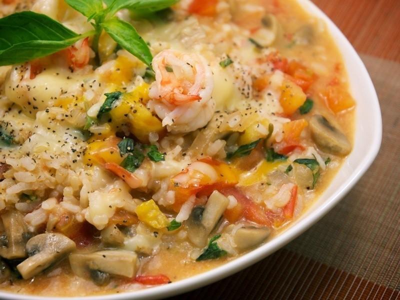 美味與健康兼備.鮮蝦燉飯