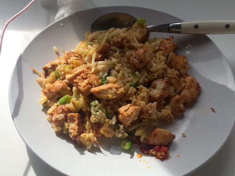 隨意雞胸肉蔬菜蛋炒飯