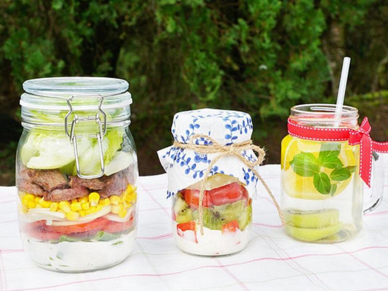 《野餐玻璃罐》五彩牛肉凱薩沙拉