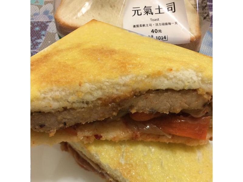 泡菜豬排三明治