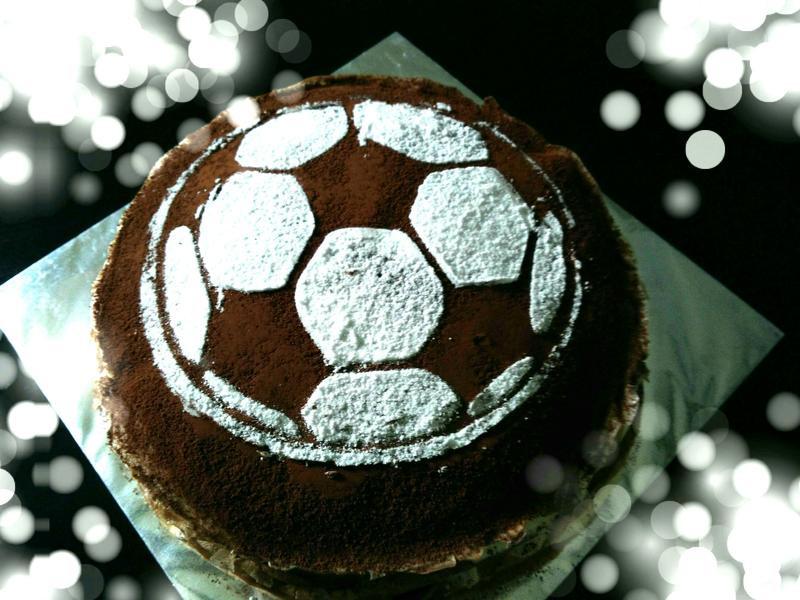 足球千层蛋糕