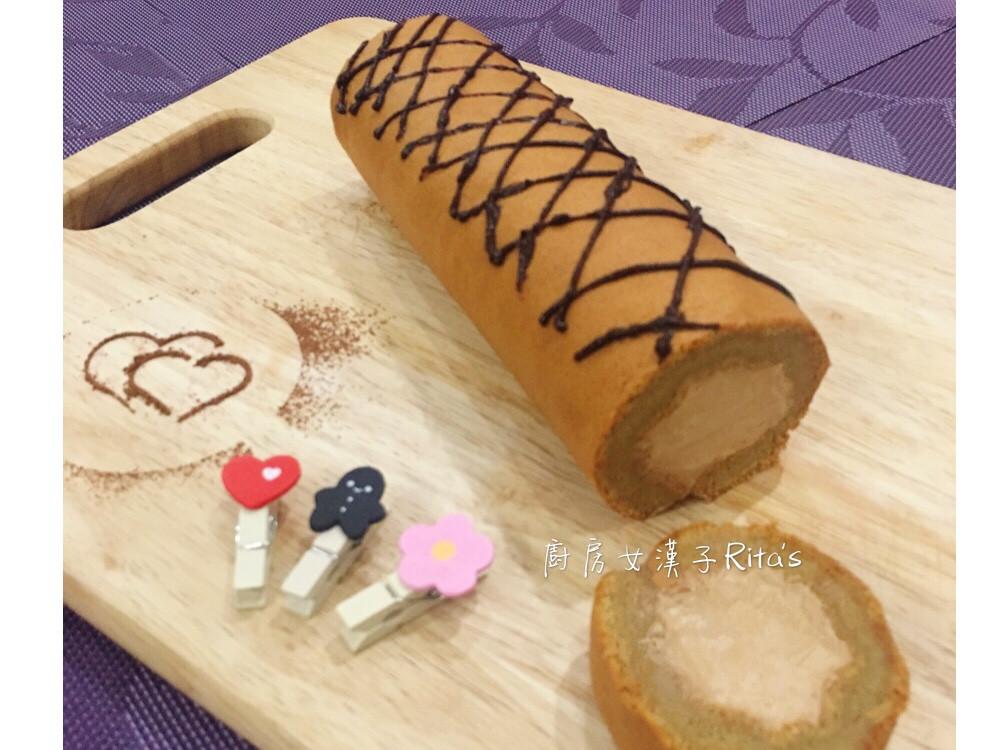 摩卡咖啡戚風蛋糕捲