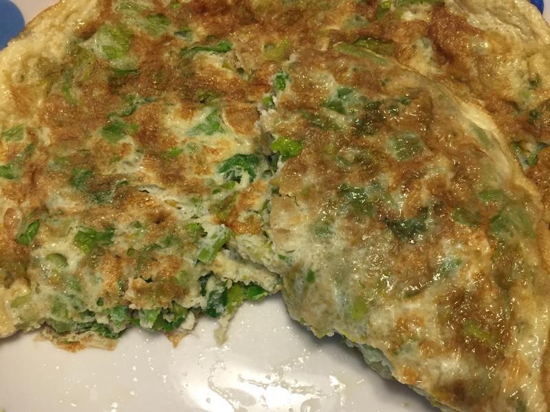 芹菜葉煎蛋